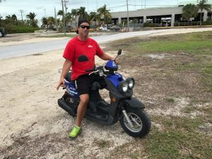 Ep 8 - The scooter that Chris ultimately mastered in Key West.