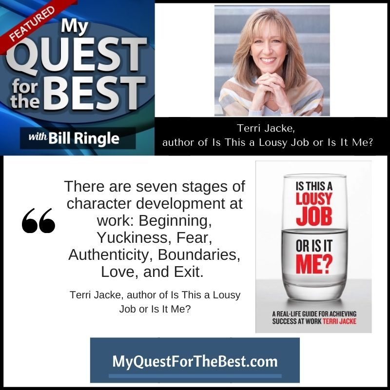 Terri Jacke feature on My Quest for the Best Podcast